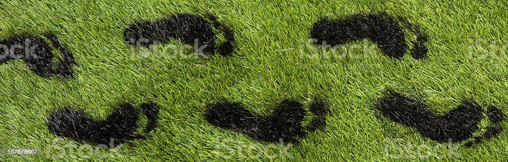 Carbon footprints royalty-free stock photo