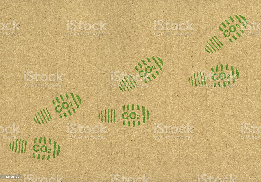 CO2 carbon footprints royalty-free stock photo
