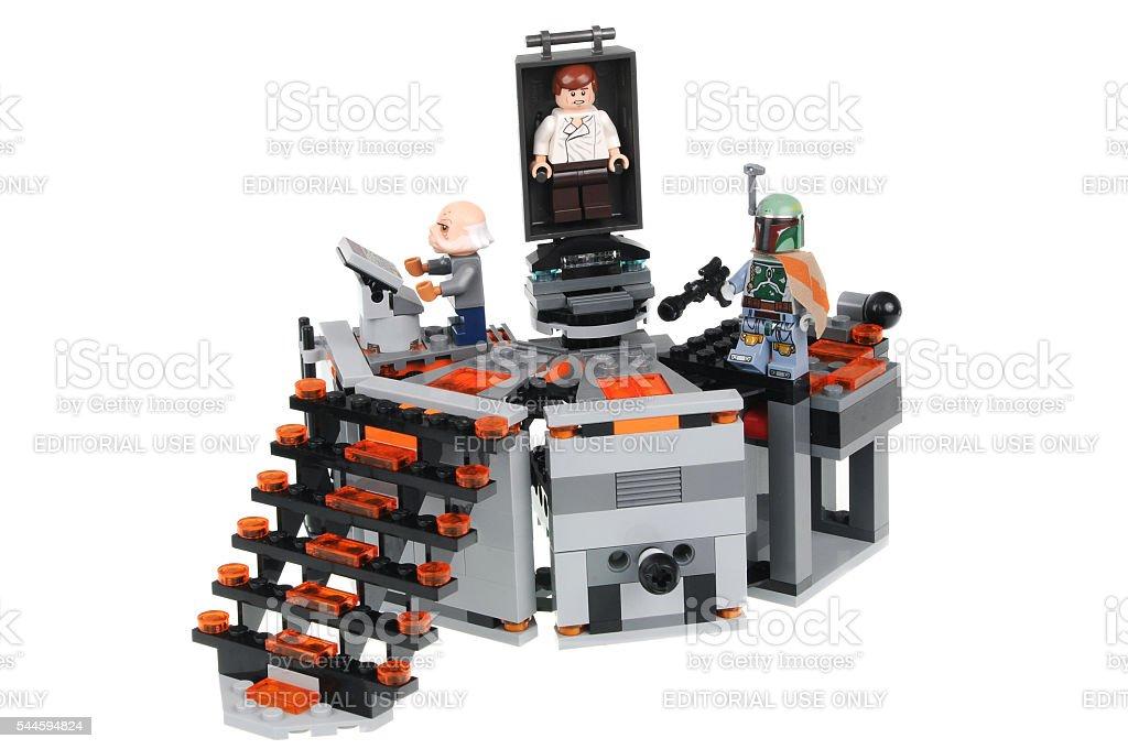 Carbon Freezing Chamber Lego Kit 75137 stock photo