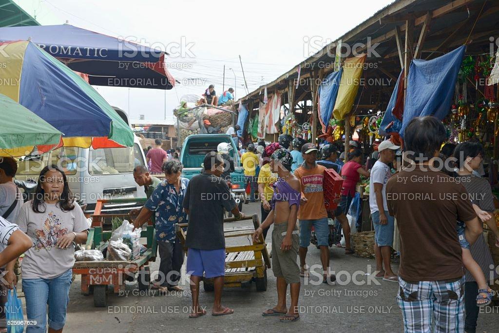 Carbon Market, Cebu City Philippines stock photo