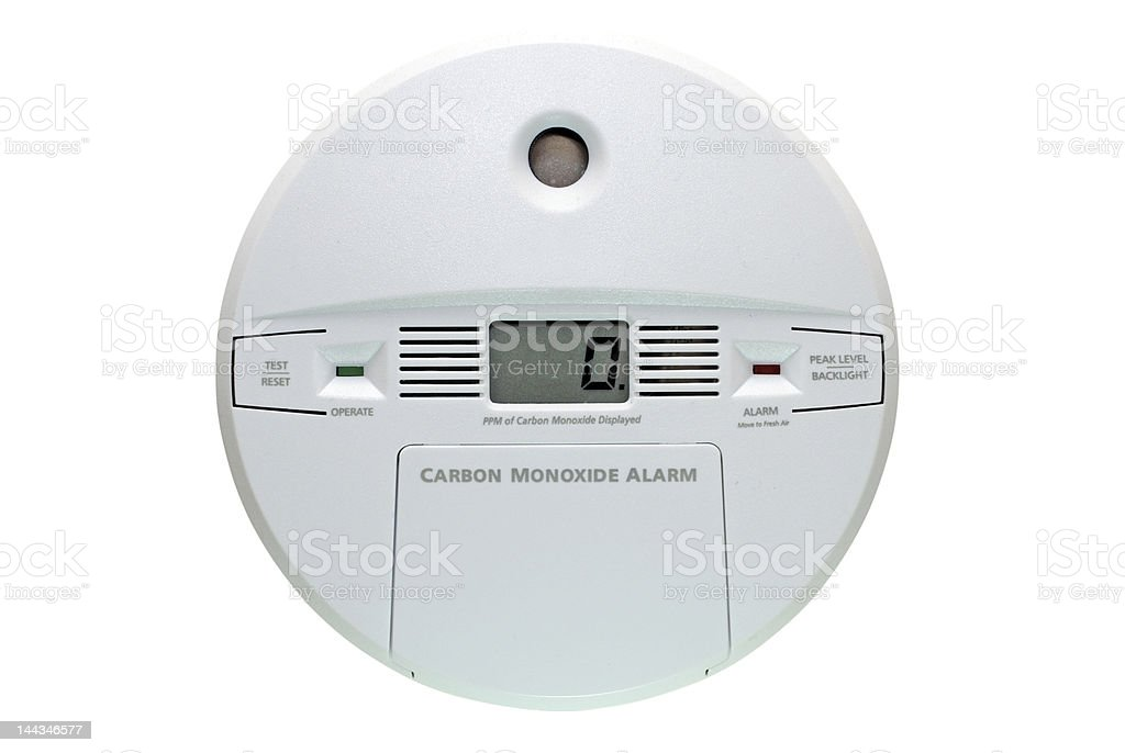 Carbon Monoxide Alarm Isolated stock photo