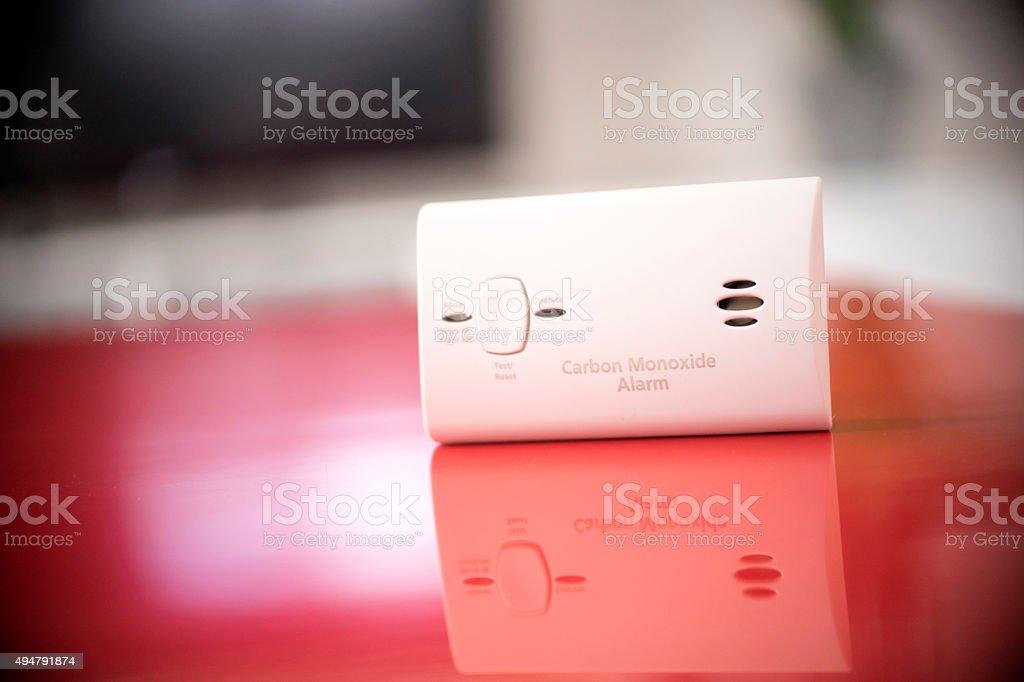 carbon monoxide alarm stock photo