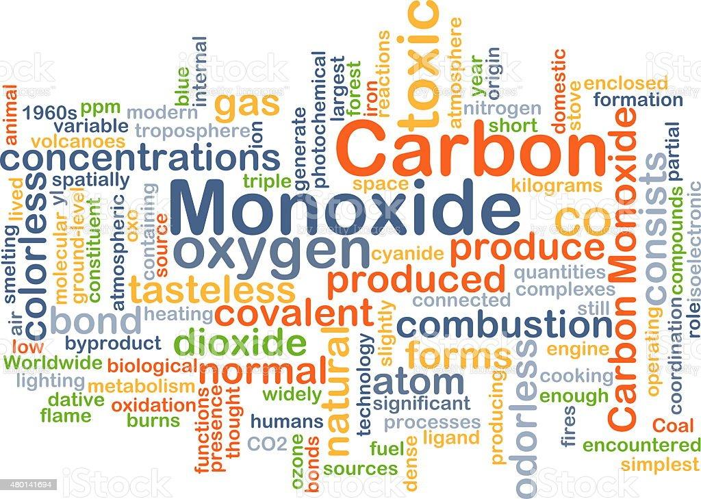 Carbon monoxide background concept stock photo