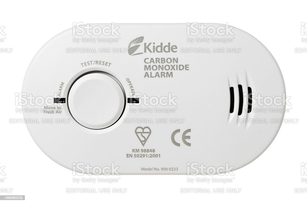 Carbon monoxide detector on white royalty-free stock photo