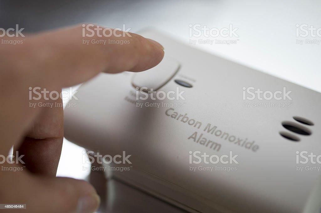Carbon monoxide detector stock photo