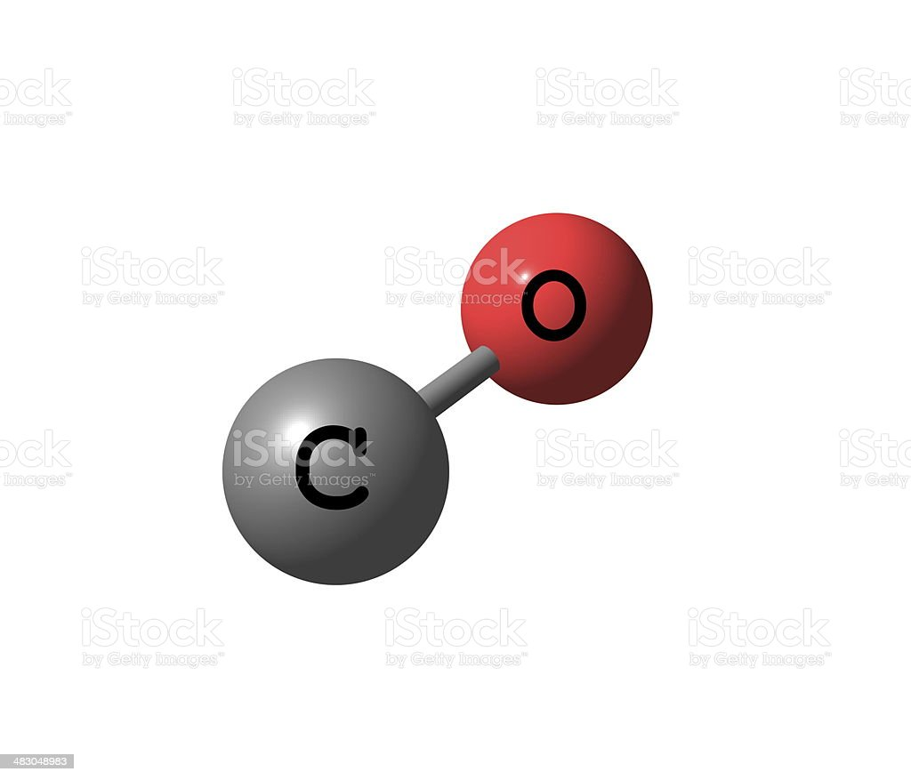 Carbon monoxide molecular structure isolated on white stock photo