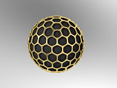 Carbon nanoparticle with gold mesh