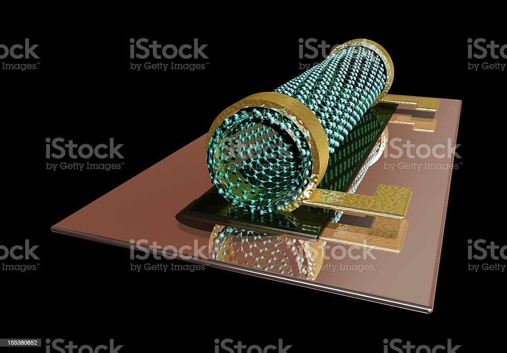 Carbon Nanotube Transistor stock photo