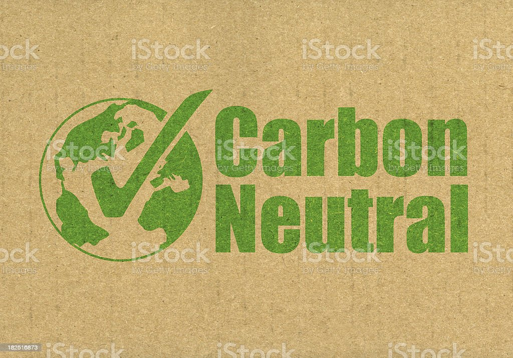 Carbon Neutral royalty-free stock photo