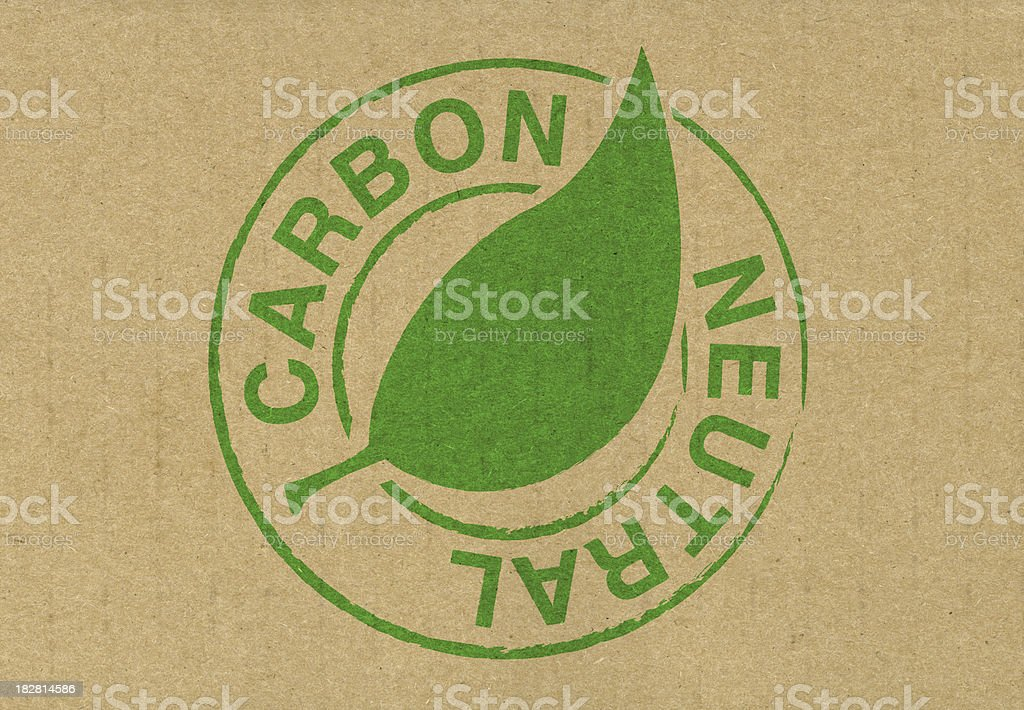 Carbon neutral stock photo