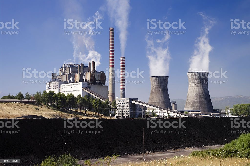 carbon power station royalty-free stock photo