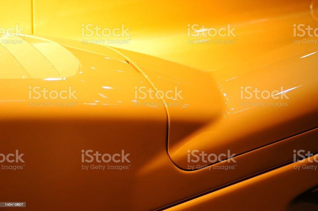 Carbon racing car stock photo