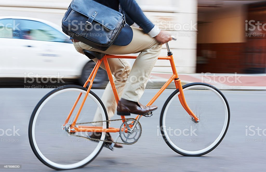 Carbon-free commuting stock photo