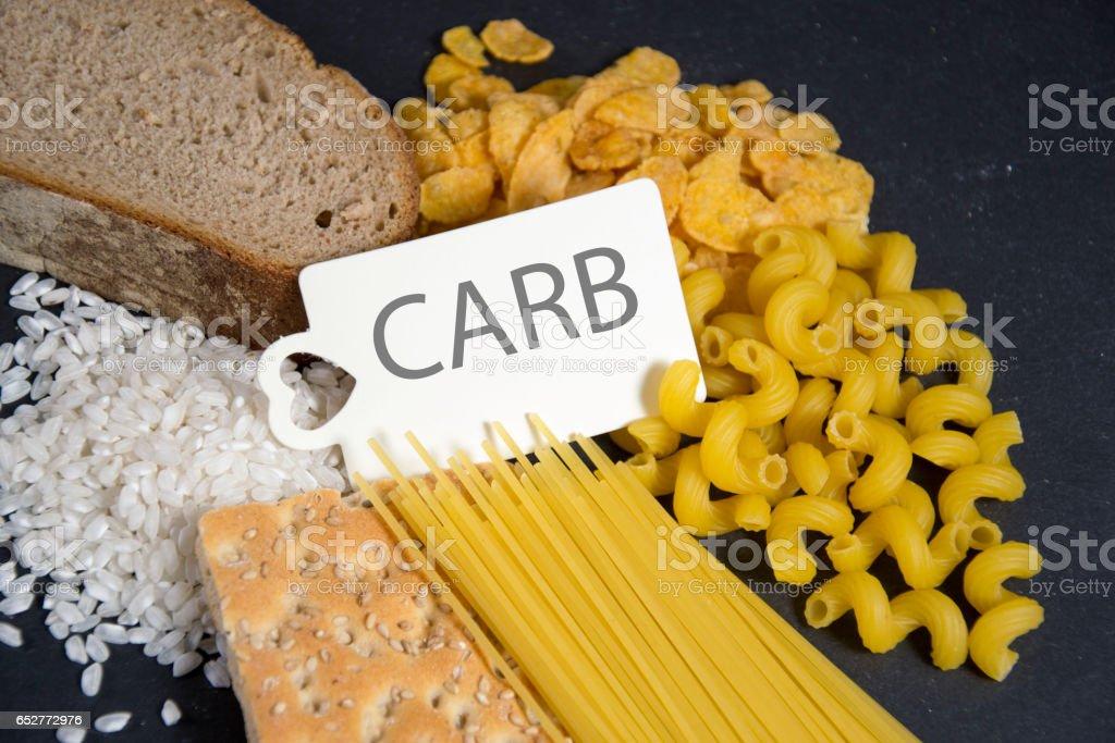 Carbs stock photo