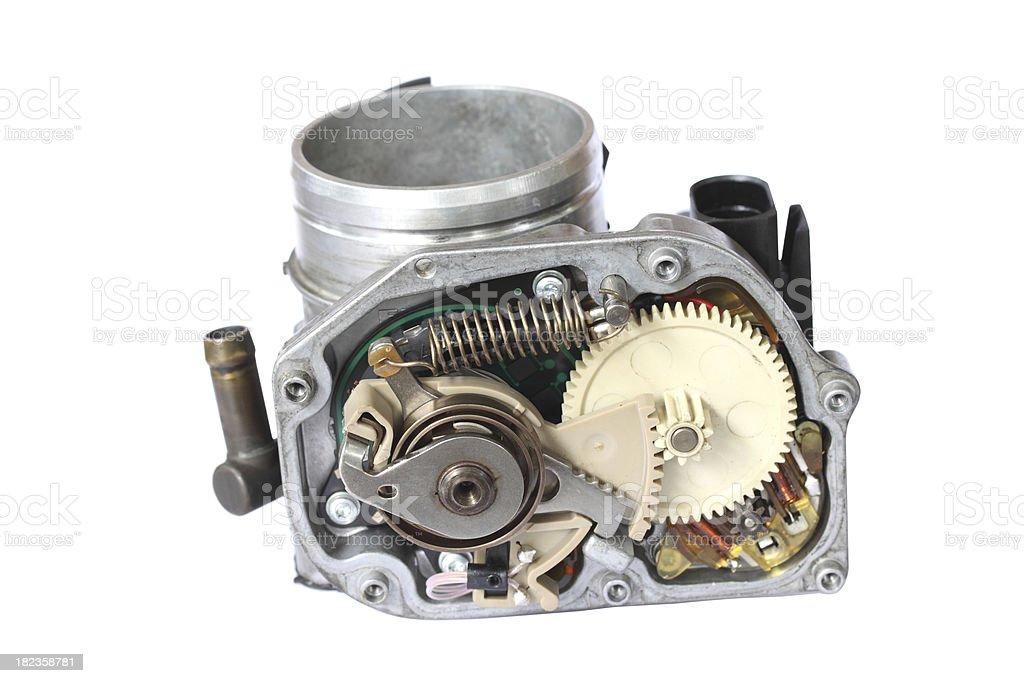 carburetor isolated on white background royalty-free stock photo