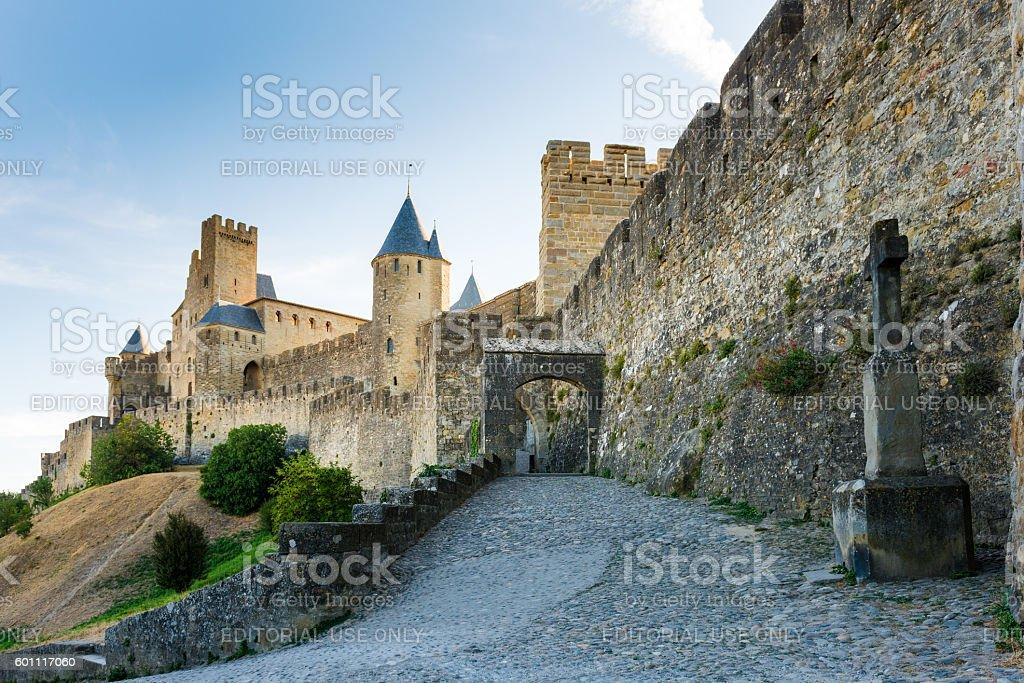 Carcasonne castle stock photo