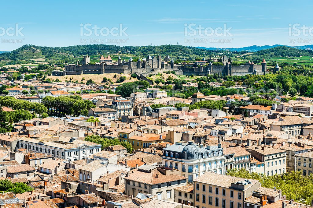 Carcasonne overview stock photo