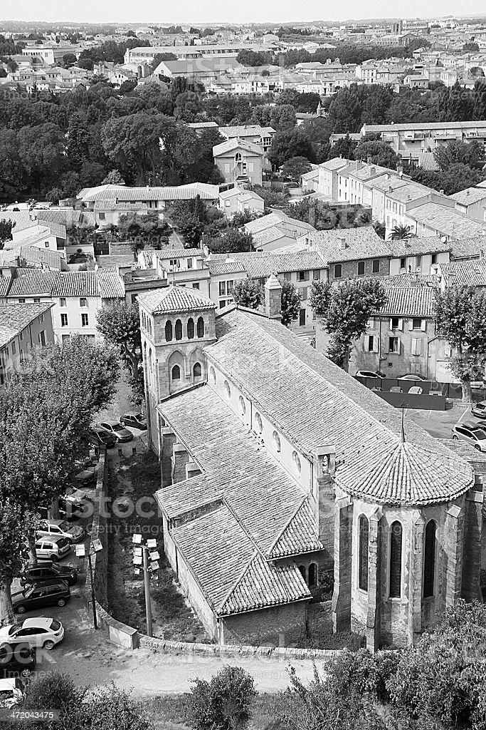 Carcassonne Cattedrale (Cathédrale Saint-Michel), Francia foto stock royalty-free