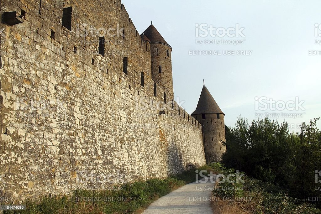 Carcassonne defensive walls stock photo