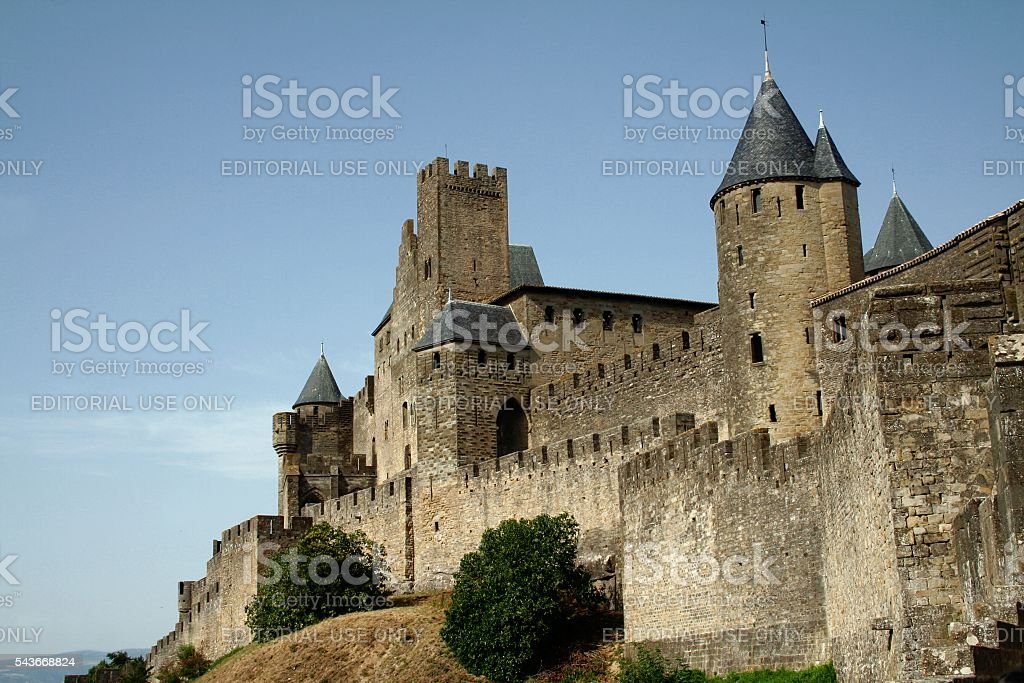 Carcassonne France Languedoc Roussillon Medieval citadel fortified walls stock photo
