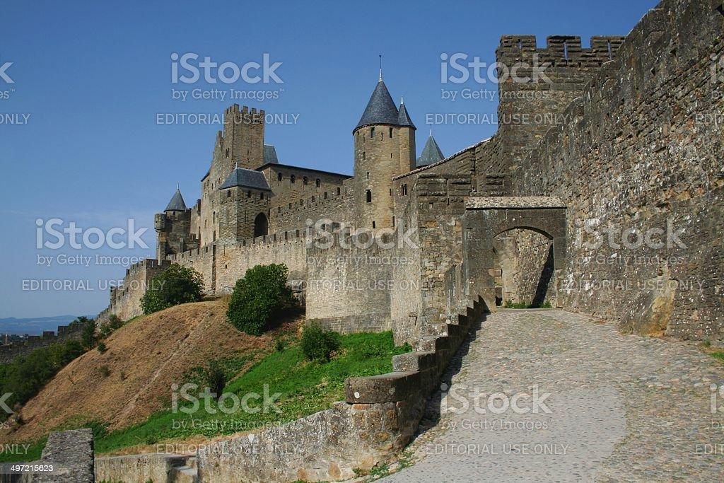 Carcassonne France Medieval citadel stock photo