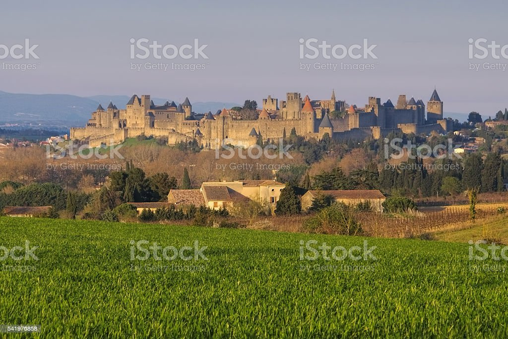 Carcassonne, France stock photo