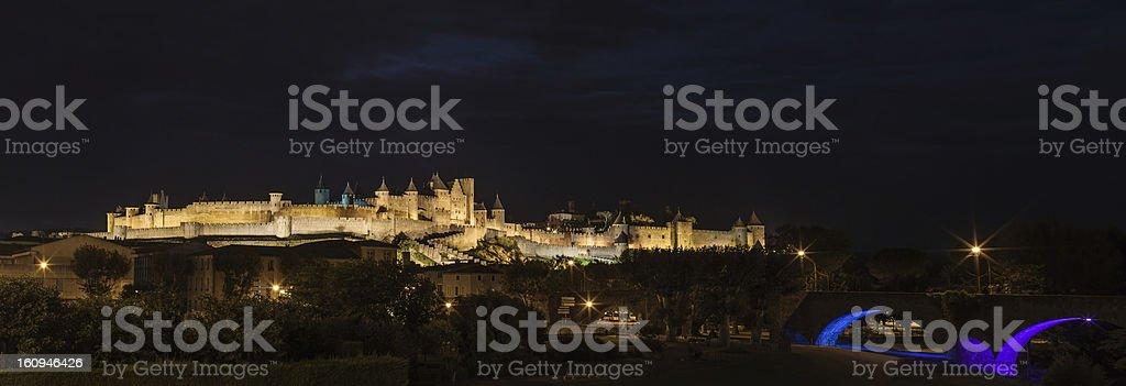 Carcassonne medieval castle. stock photo