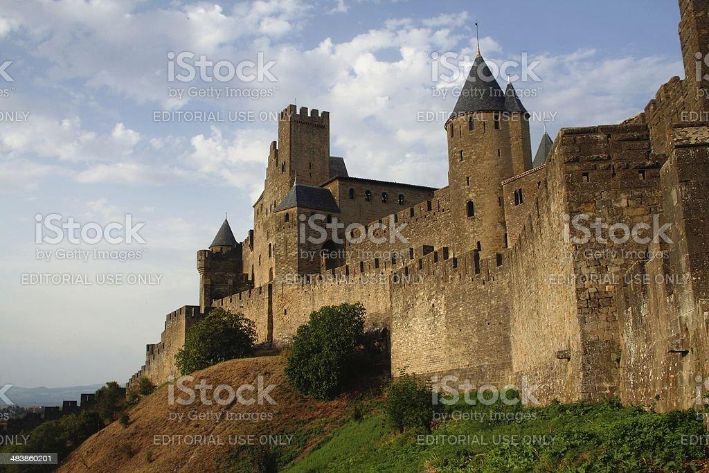 Carcassonne medieval citadel France stock photo