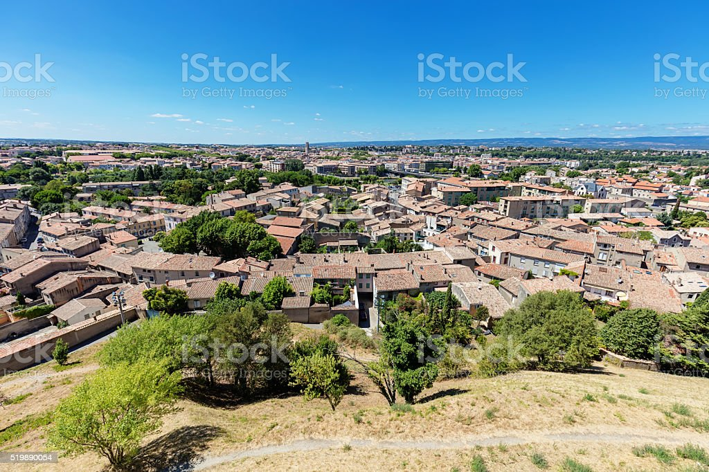 Carcassonne Town View from Above stock photo