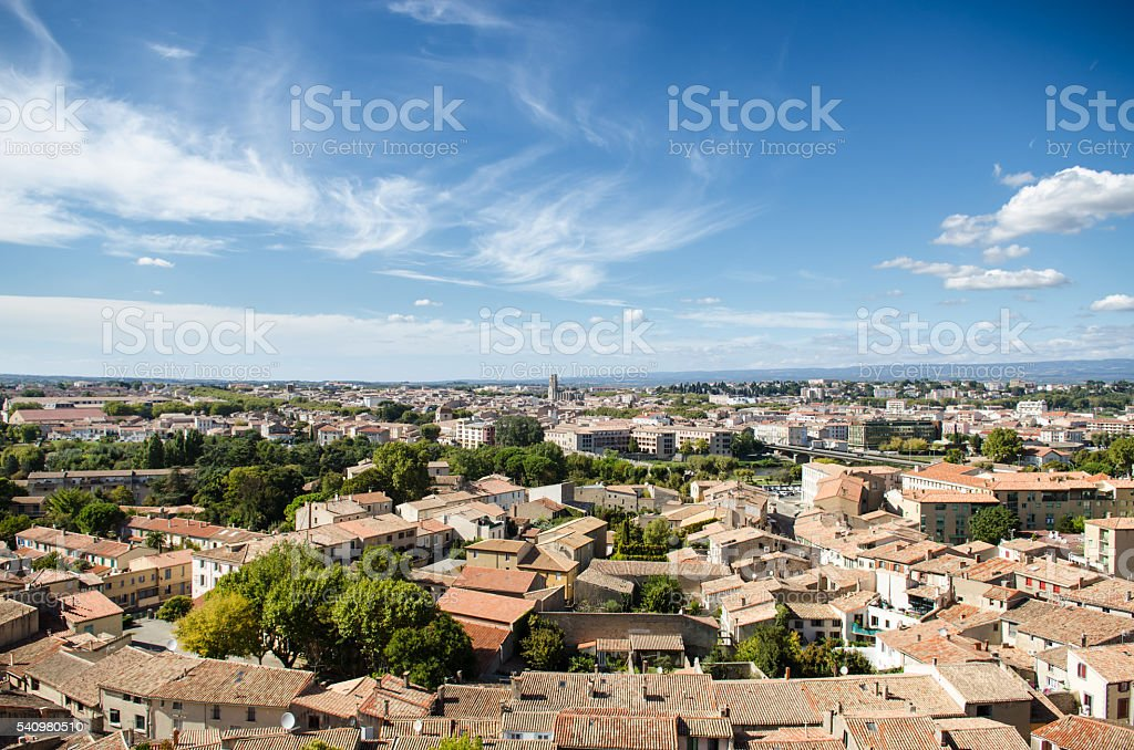 Carcassonne-France stock photo
