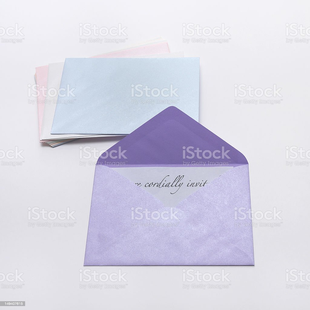 Card and Envelope stock photo