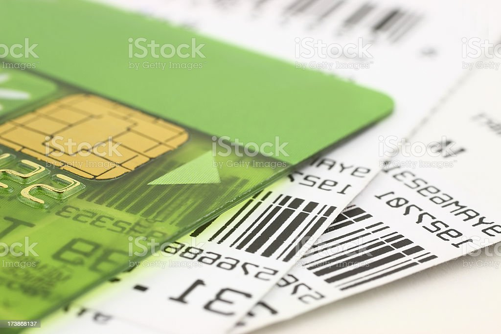 Card and price labels stock photo