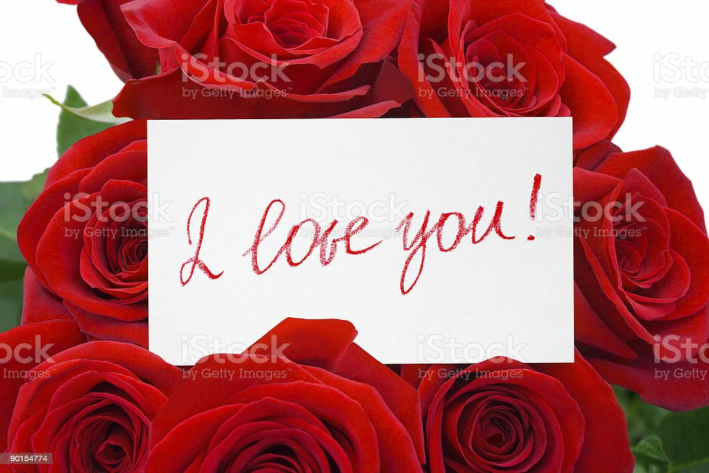 Card and roses royalty-free stock photo