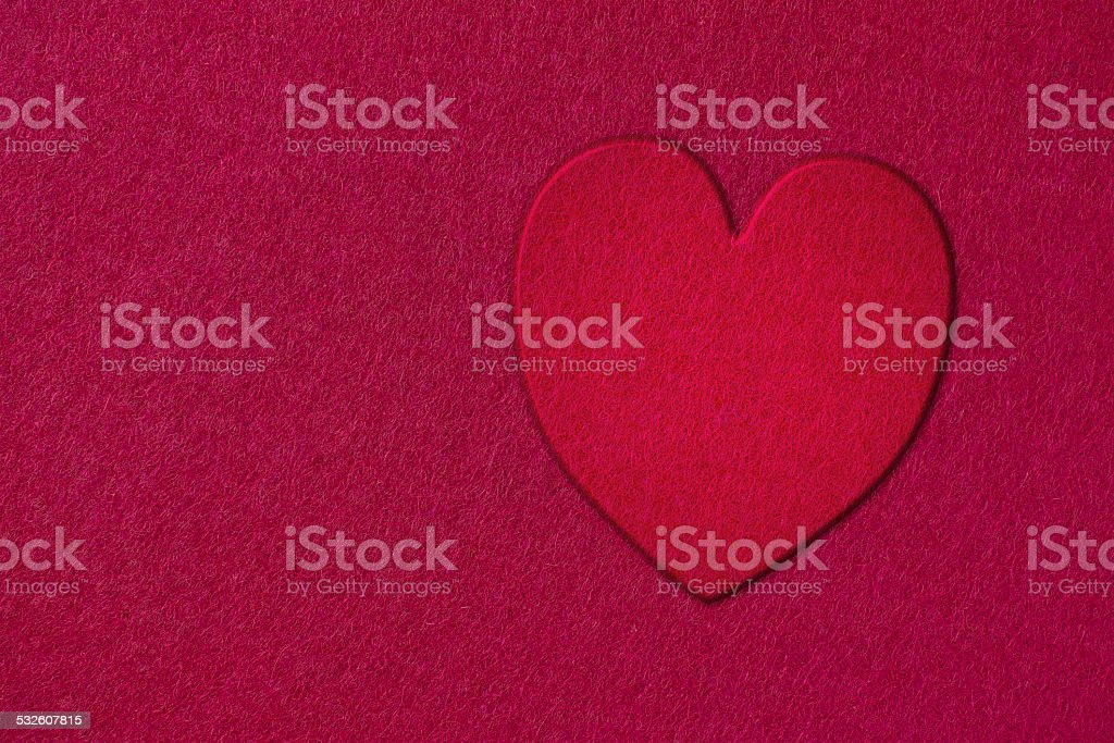 Card at the heart stock photo