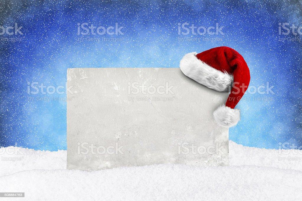 XMAS Card blue snow stock photo