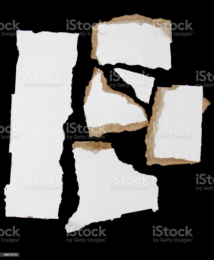 card board scraps royalty-free stock photo