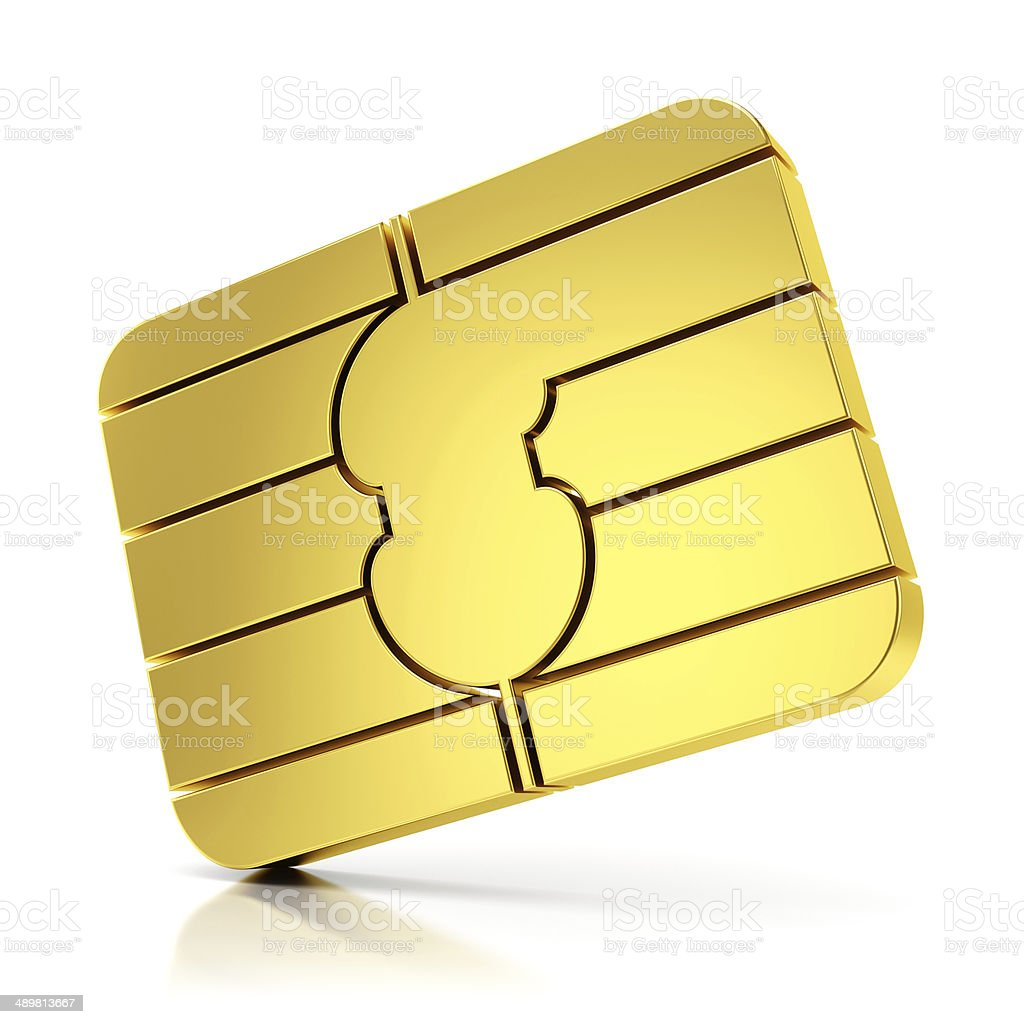 SIM card chip stock photo