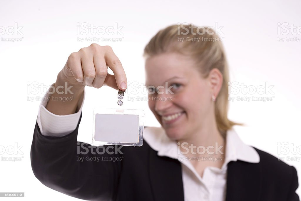 ID Card Display royalty-free stock photo