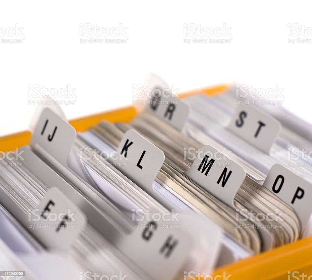 Card File stock photo