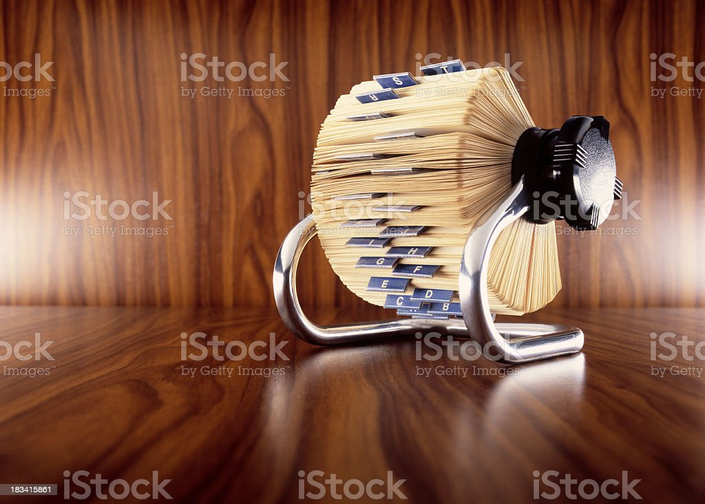 A card filer for organizational purposes stock photo