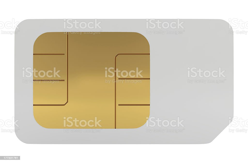 SIM Card for Mobile Phone stock photo