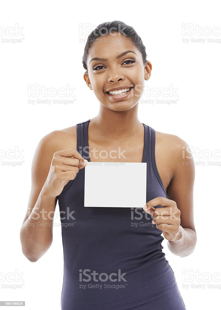 Card for your copyspace royalty-free stock photo
