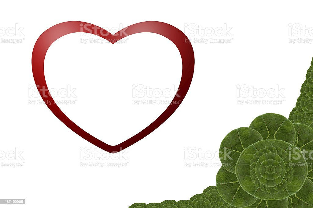 Card form leaf. stock photo