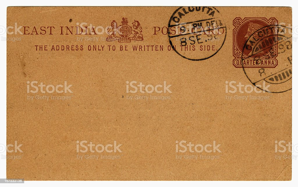 Card from Calcutta stock photo