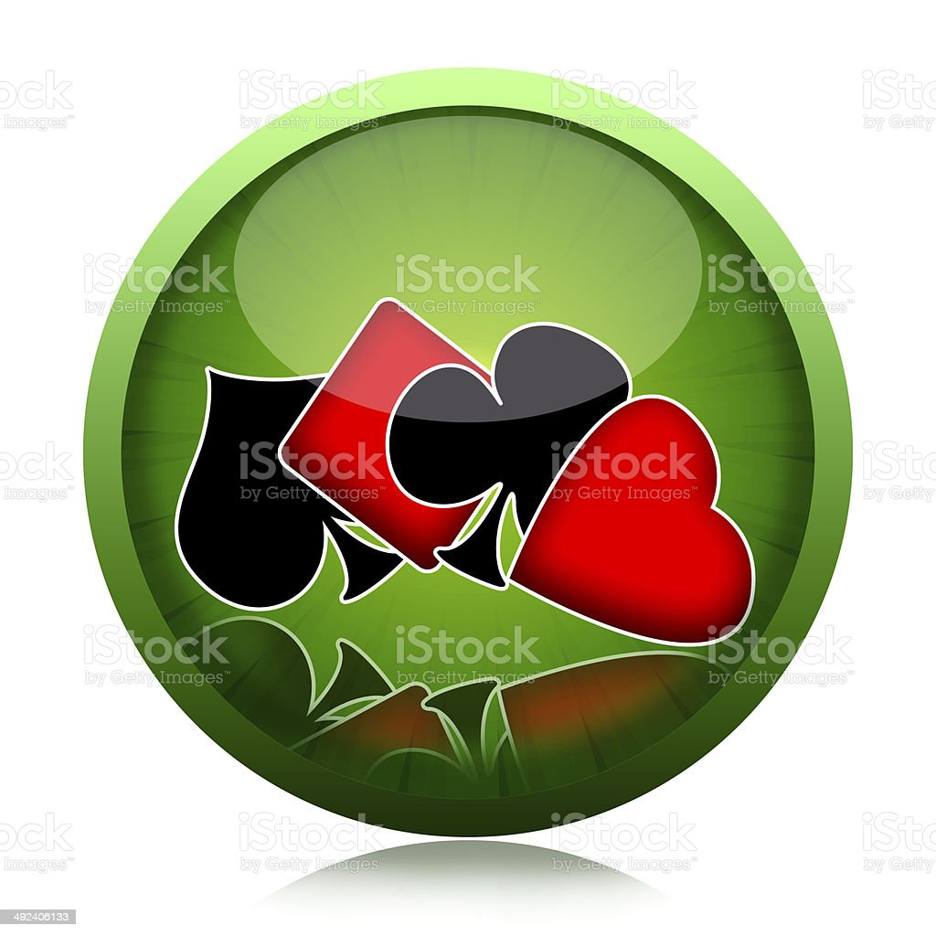 Card games icon stock photo