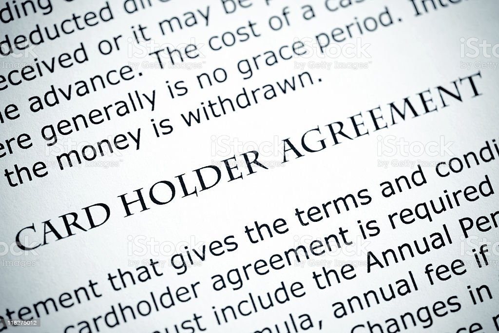Card Holder Agreement royalty-free stock photo