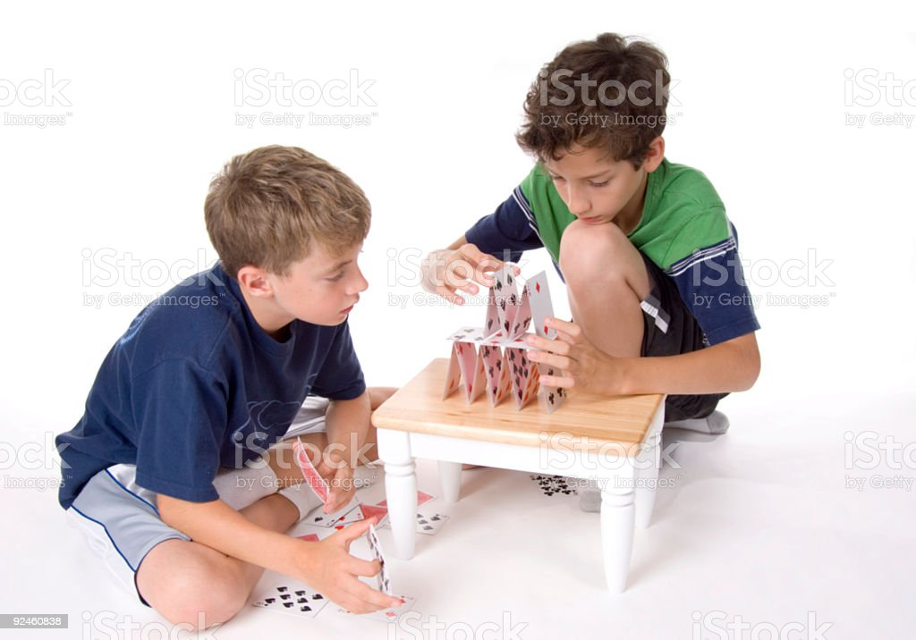 Card House royalty-free stock photo