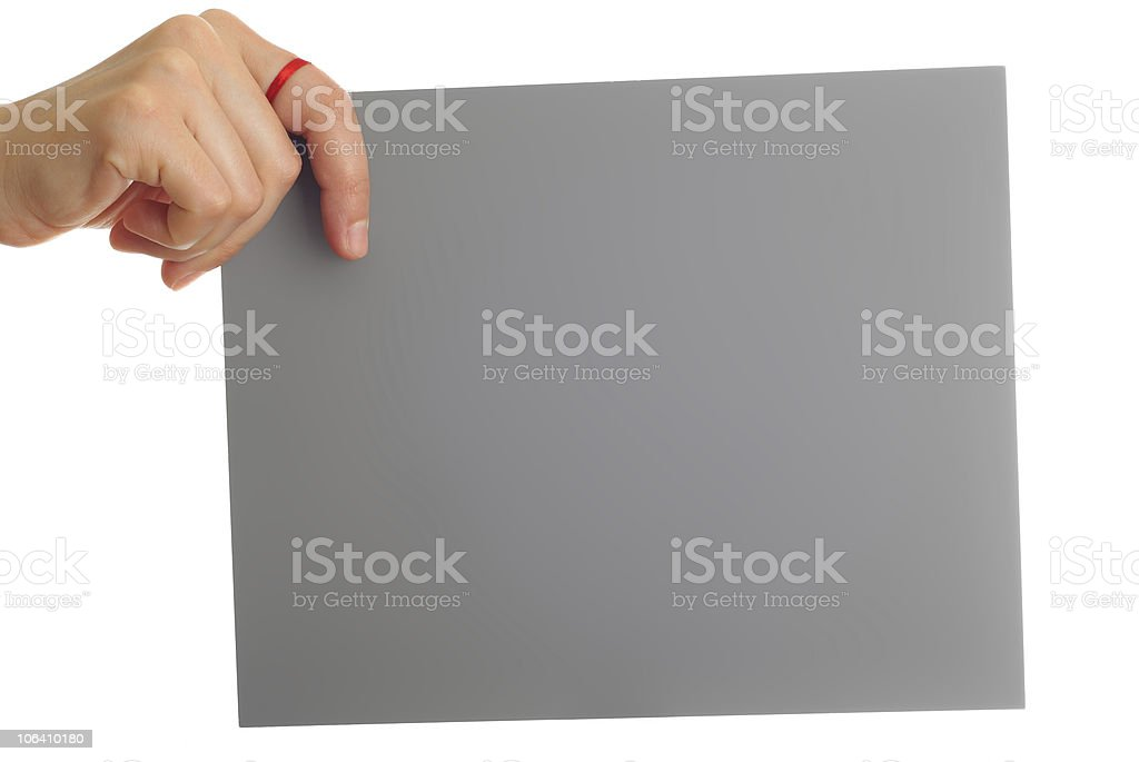 card in a woman's hand-don't forget royalty-free stock photo