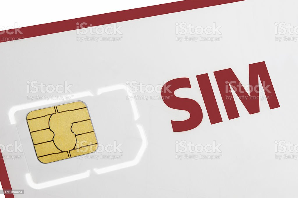 SIM Card in Holder royalty-free stock photo
