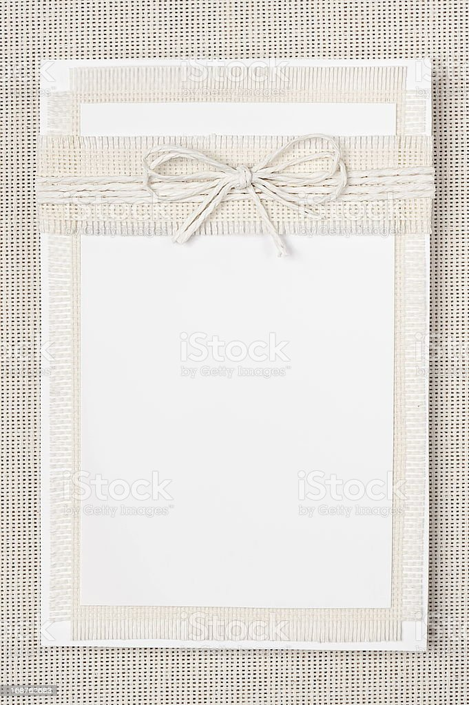 Card in the ecological style royalty-free stock photo